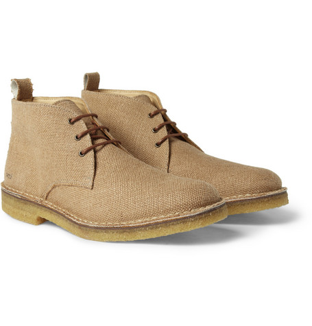 AMI Crepe-Sole Canvas Desert Boots
