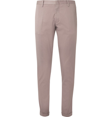 Paul Smith Cropped Slim-Fit Cotton-Blend Trousers