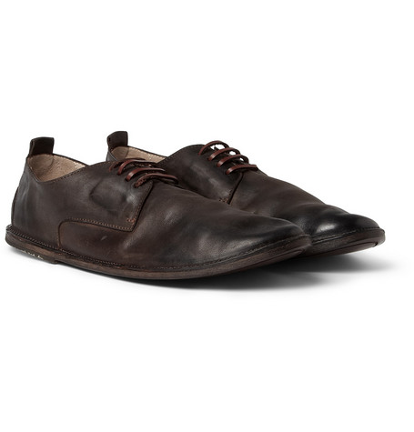 Marsell Burnished Leather Derby Shoes