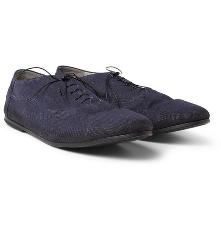 Marsell Canvas and Leather Oxford Shoes