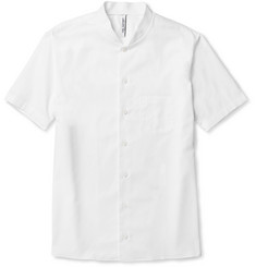Neil Barrett Short-Sleeved Baseball-Collar Cotton Shirt