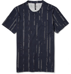 Neil Barrett Striped Cotton-Piqué T-Shirt