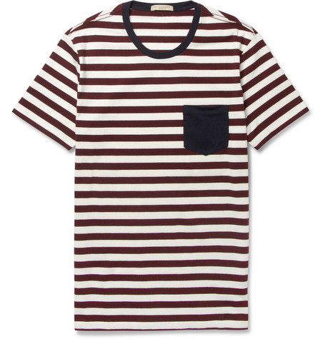 Burberry Brit Striped Cotton-Jersey T-Shirt