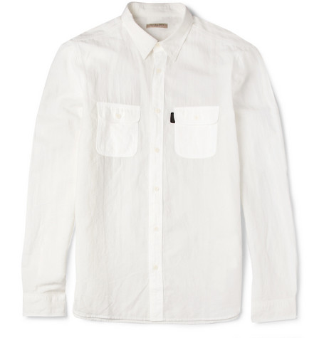 Burberry Brit Slim-Fit Cotton and Linen-Blend Shirt