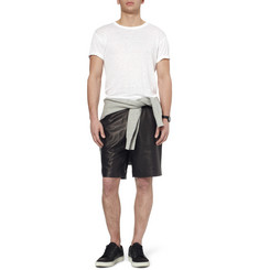 Alexander Wang Slub Linen and Silk-Blend T-Shirt