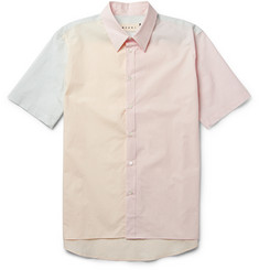 Marni Short-Sleeved Panelled Cotton Shirt