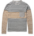 Marni Long-Sleeved Panelled Striped Cotton T-Shirt