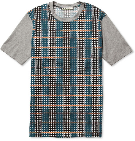 Marni Printed Cotton Crew Neck T-Shirt