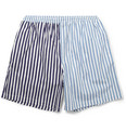 Marni Striped Cotton Swim Shorts
