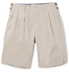 Marni Pleated Cotton Shorts