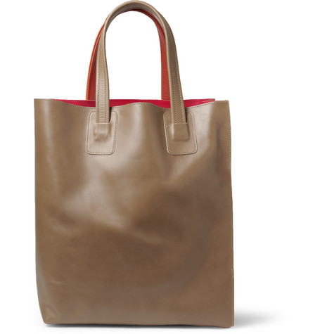 Marni Panelled Leather Tote Bag