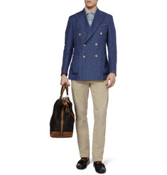 Loro Piana Unstructured Linen Double-Breasted Blazer
