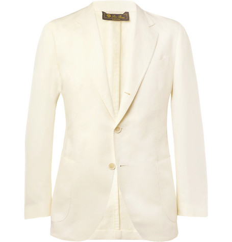 Loro Piana Unstructured Linen and Cotton-Blend Blazer