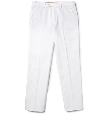 Loro Piana Relaxed-Fit Cotton and Linen-Blend Trousers