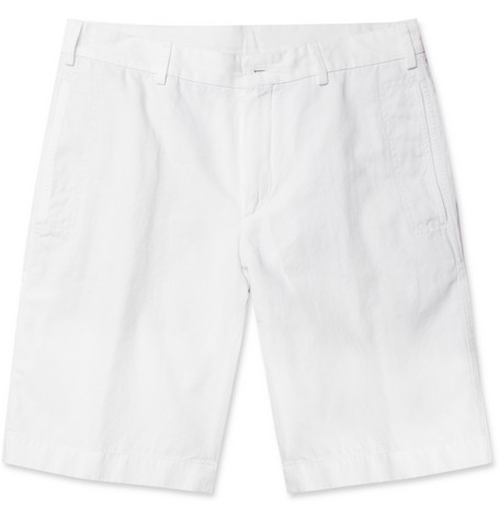 Loro Piana Cotton and Linen-Blend Shorts
