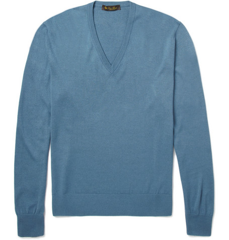 Loro Piana Silk Hopkins Fine-Knit Sweater