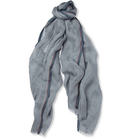 Loro Piana Linen and Cotton-Blend Scarf
