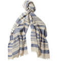 Loro Piana - Striped Cashmere and Linen-Blend Scarf