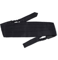 Brioni Exclusive Pleated Silk-Grosgrain Cummerbund