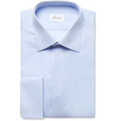 Brioni Light Blue Exclusive Cotton Tuxedo Shirt