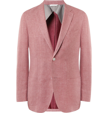 Brioni Unstructured Linen, Wool and Silk-Blend Blazer