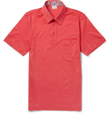 Brioni Cotton Pique Polo Shirt