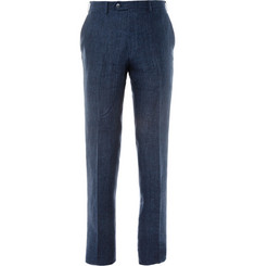 Brioni Straight-Leg Linen Trousers