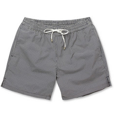 Brioni Mid-Length Houndstooth Check Swim Shorts