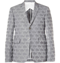 Thom Browne Whale-Patterned Cotton-Blend Blazer