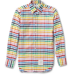 Thom Browne Gingham Check Cotton Oxford Shirt