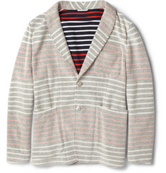 Thom Browne Striped Cotton-Jersey Blazer