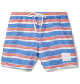 Thom Browne Whale-Pattern Mid-Length Swim Shorts