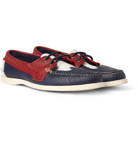 Thom Browne Leather Brogue Boat Shoes