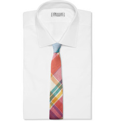 Thom Browne Plaid Cotton Tie