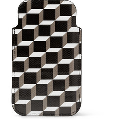 Pierre Hardy Printed Textured-Leather iPhone Case