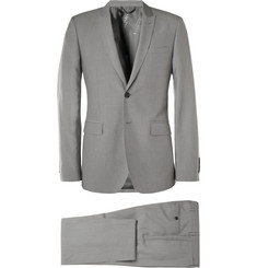 Burberry London Grey Wool and Linen-Blend Suit