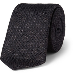 Burberry London Patterned Woven-Silk Tie