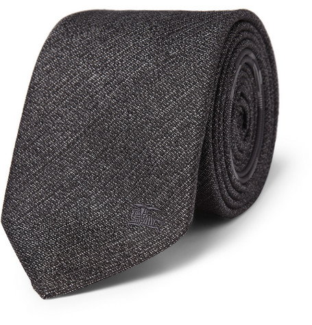 Burberry London Linen and Silk-Blend Tie