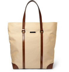 Burberry Shoes & Accessories Leather and Canvas Tote Bag