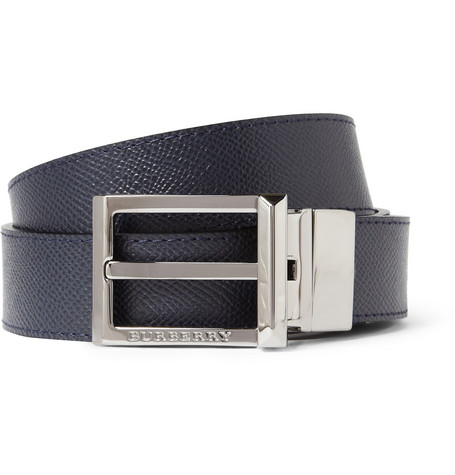 Burberry Shoes & Accessories Cross-Grain Leather Belt