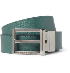 Burberry Shoes & Accessories Reversible Textured Leather Belt