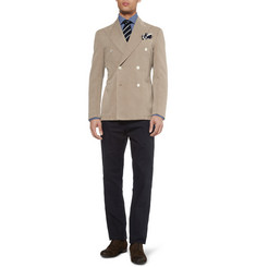 Boglioli Unstructured Cotton and Linen-Blend Blazer