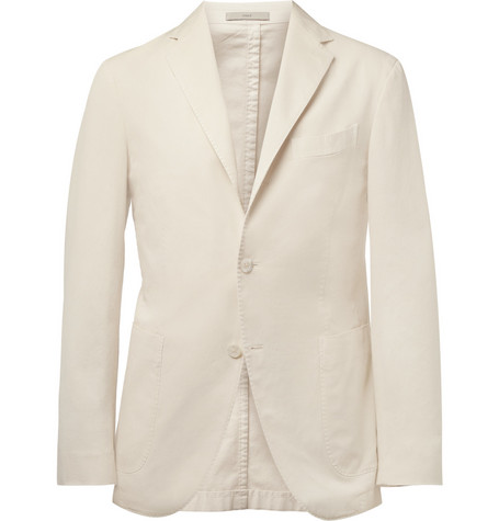 Boglioli Slim-Fit Cotton-Blend Blazer