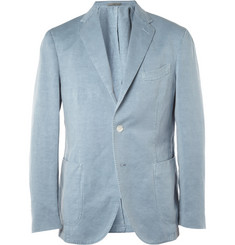 Boglioli Slim-Fit Unstructured Cotton and Linen-Blend Blazer