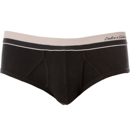 Dolce & Gabbana Ribbed Cotton Briefs