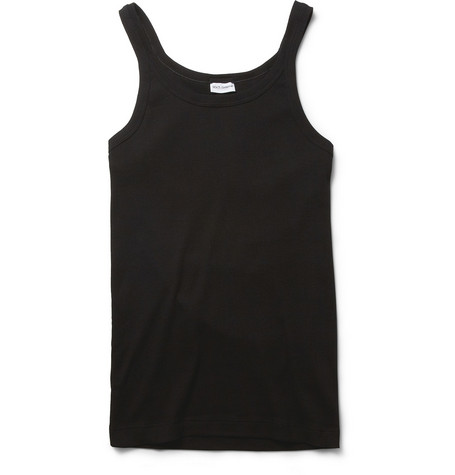 Dolce & Gabbana Marcello Ribbed Cotton Vest