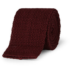 Drake's Knitted Cotton Tie