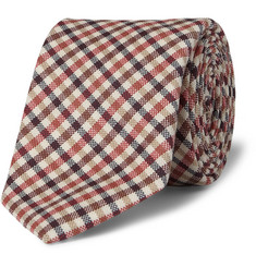 Drake's Gingham Check Wool Tie