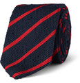 Drake's Striped Slub Silk Tie
