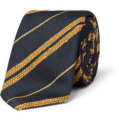 Drake's Striped Silk-Grenadine Tie